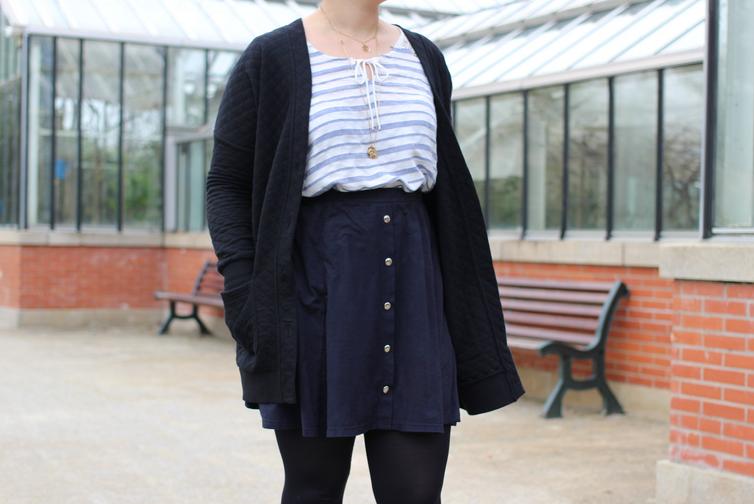 blog mode nantes jupe suedine noire gemo