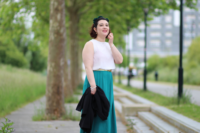 blog mode nantes robe verte shein