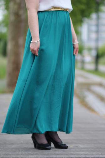 robe verte et blanche shein blog mode nantes