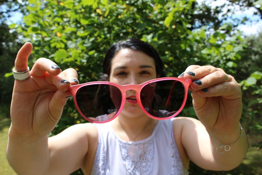 blog mode nantes lunettes roses ray ban