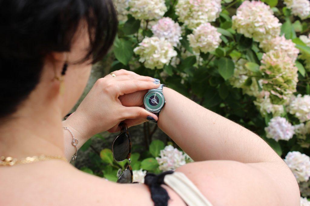blog mode nantes montre swatch noire