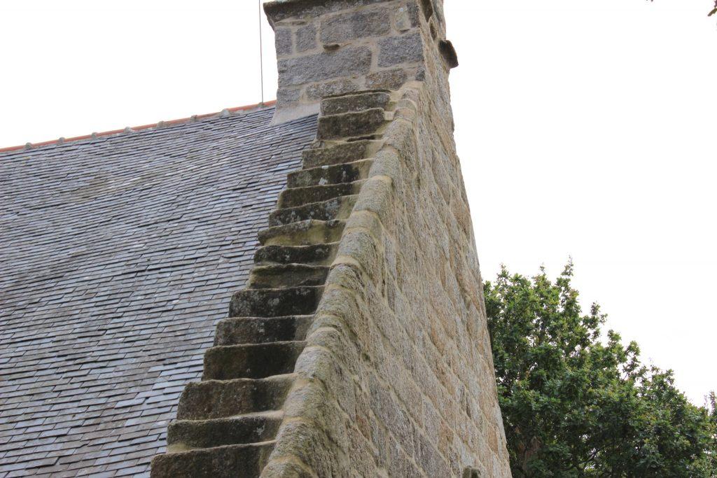 escalier clocher chapelle tremalo