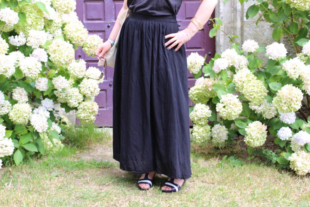 jupe longue noire follow me gemo pont aven
