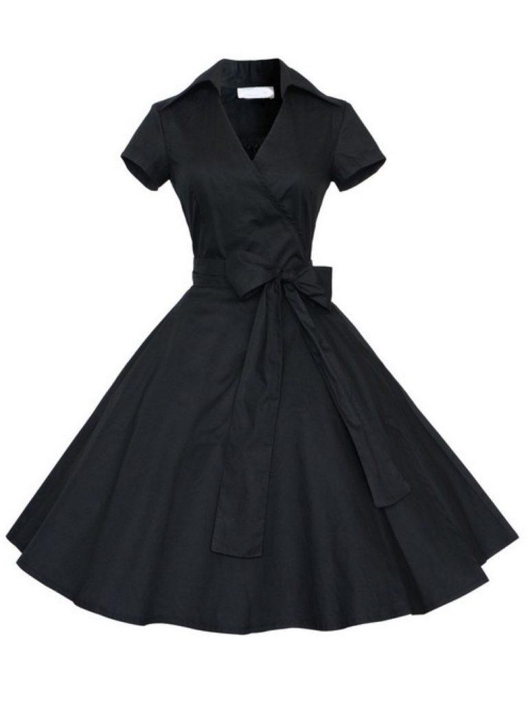robe noire manches courtes shein blog mode nantes