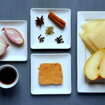Recette de bonbons de Noël au foie gras et chutney de poire
