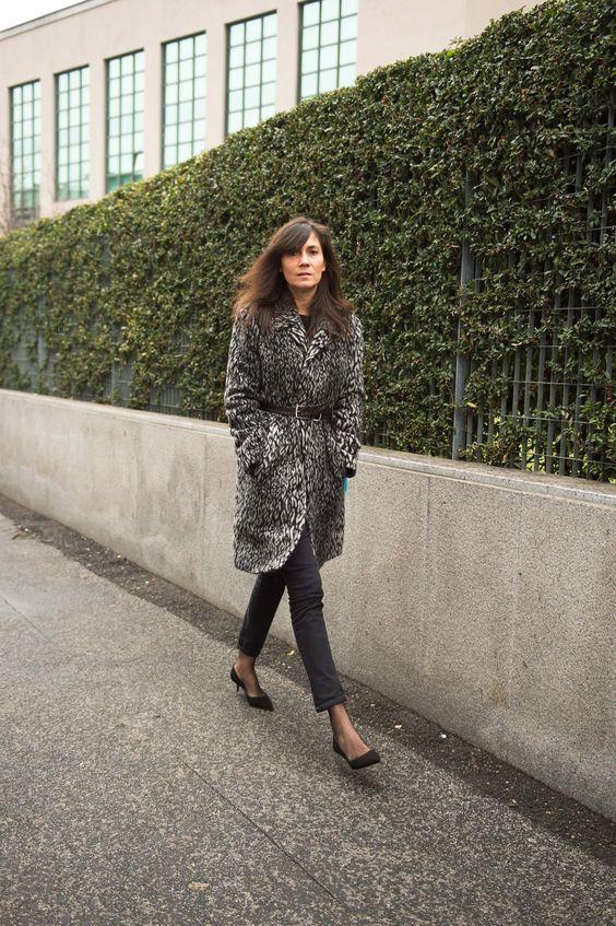 Emmanuelle Alt en léopard