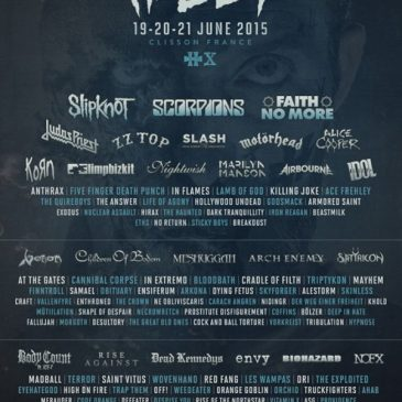Hellfest 2015 – Clisson Rock City – Du metal et des bisounours