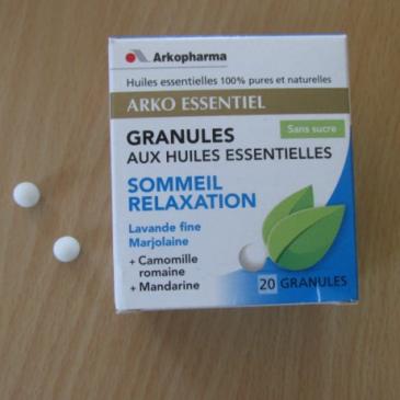 Arko Essentiel – Granules aux huiles essentielles – sommeil relaxation par Arkopharma