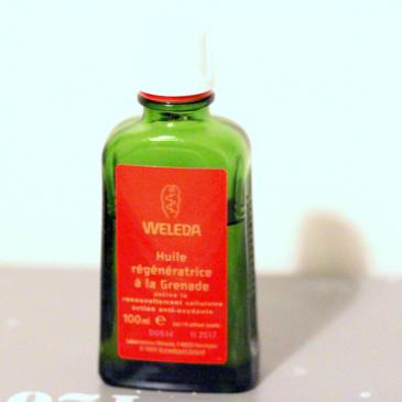L'huile régénératrice à la grenade – Weleda