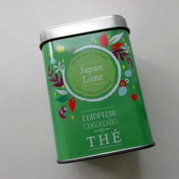 Le thé Japan lime du comptoir Français du thé
