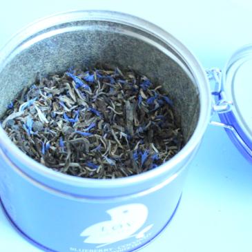Le thé myrtille coco de chez Løv Organic