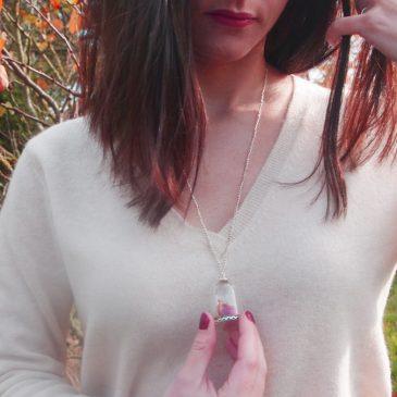 Un rayon de soleil en hiver et une mini clairière dans un collier