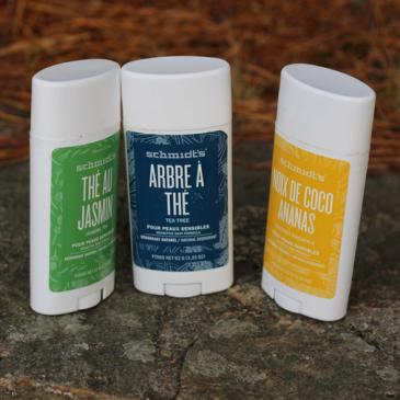 Les déodorants peaux sensibles par Schmidts