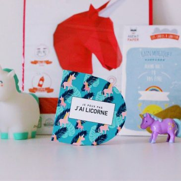 Une adorable petite licorne avec Agent Paper