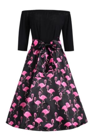 robe avec flamant rose robe classique site blog photo. Black Bedroom Furniture Sets. Home Design Ideas