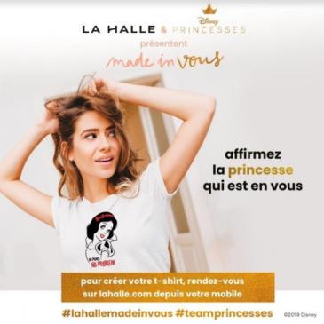 Créez votre t shirt avec la halle x Disney #lahallemadeinvous