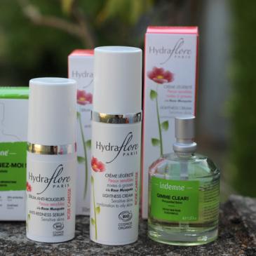 Routine anti acné de fin d'été avec Indemne et Hydraflore