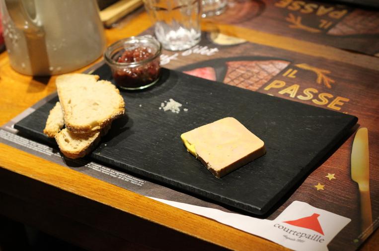 foie gras du menu de noël courtepaille