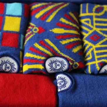 La Box Kids 5 chaussettes Quatuor – Rouge & Bleu