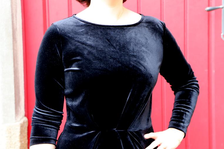 robe vila noire en velours