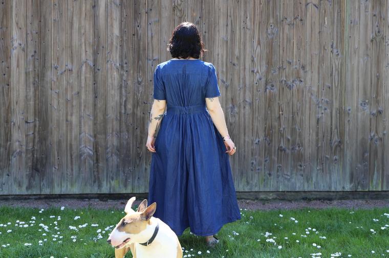 robe monoprix bleue