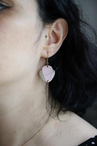 boucles d'oreilles lotus ni une ni deux bijoux