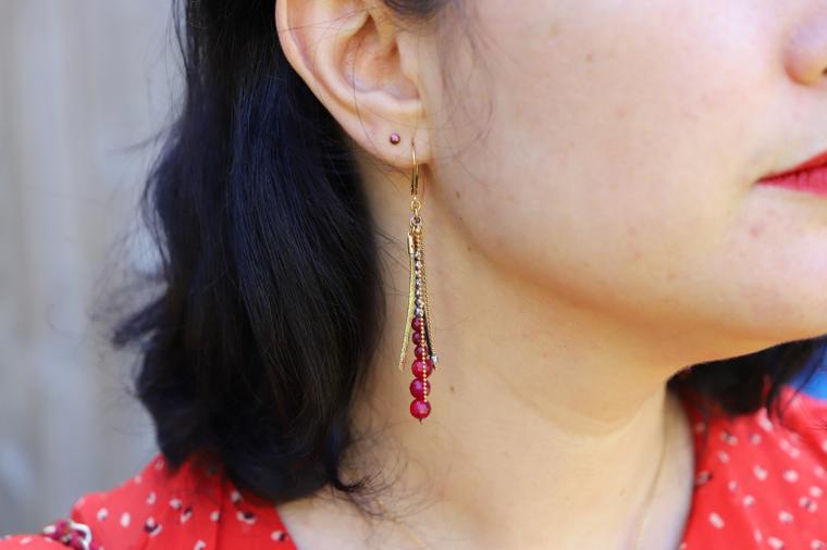 boucles d oreilles rouge ni une ni deux bijoux