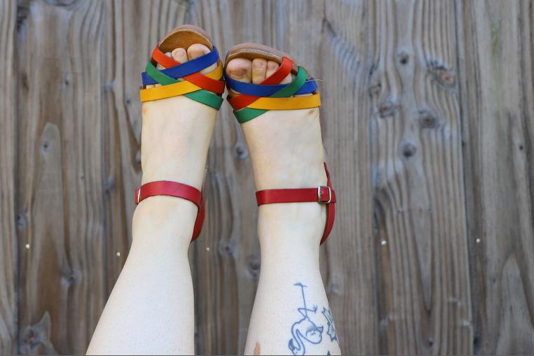 sandales cuir faites en espagne