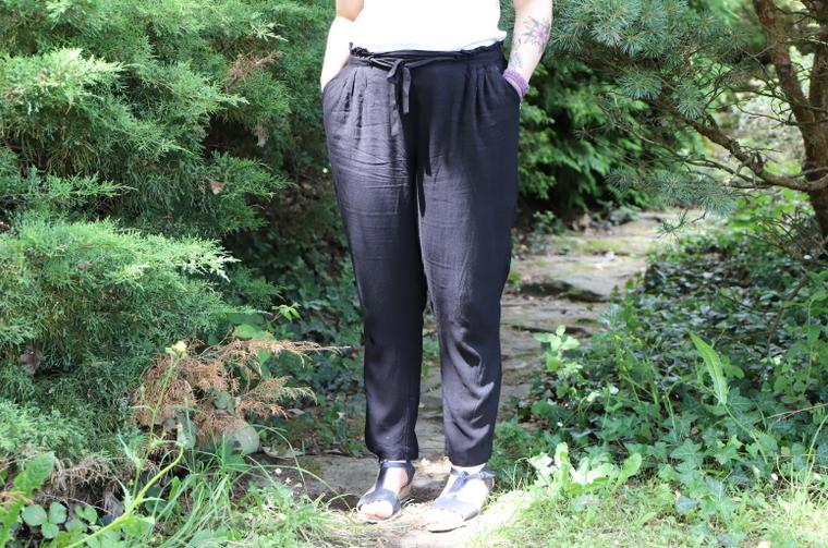 pantalon bleu bonheur