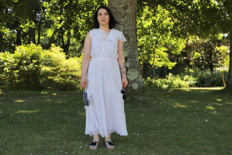 robe blanche cœurs naf naf