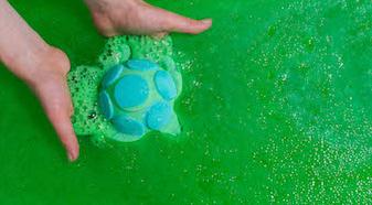 bain de fraîcheur tortue
