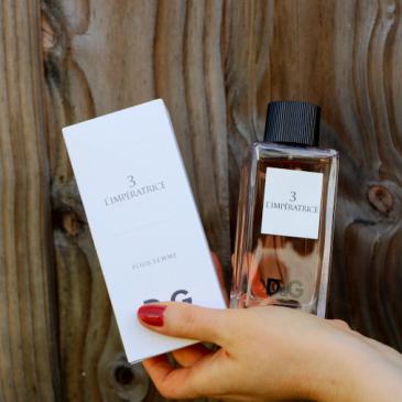 Parfum d'été : Dolce & Gabbana 3 L'Impératrice