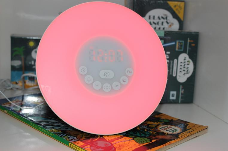 simulateur d'aube couleur rose