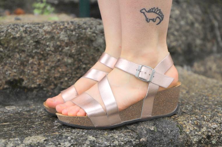 sandales compensees blancheporte