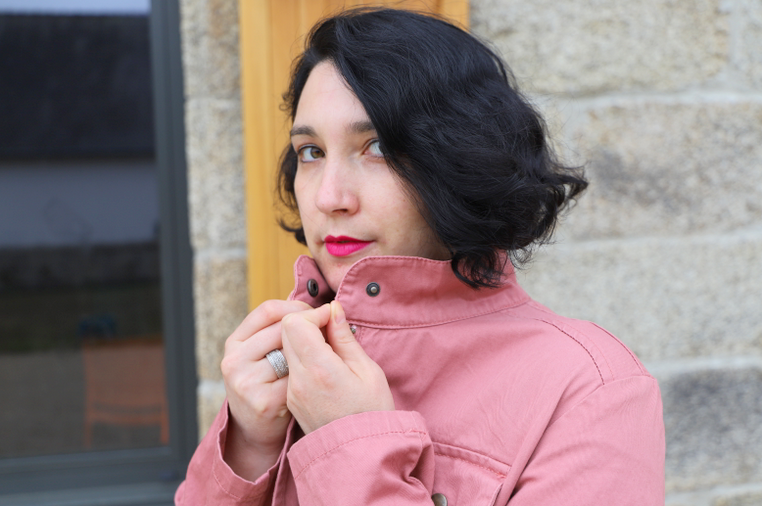 veste saharienne bois de rose