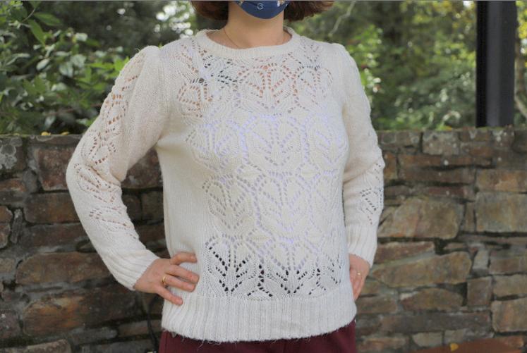 pull blanc écru demi saison automne blancheporte