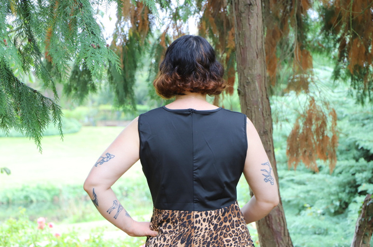 top de la robe de dos pin up leopard