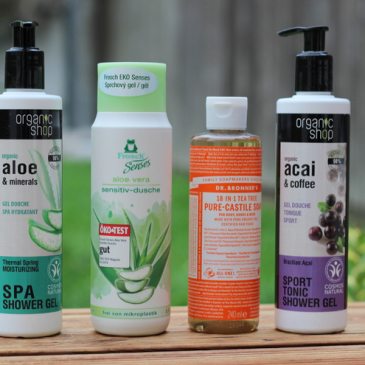 Battle de gels douche clean et green