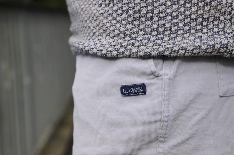detail etiquette pantalon Le Glazik