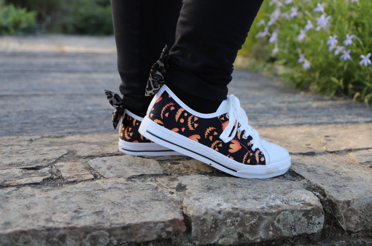 chaussures citrouilles halloween party