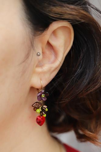 boucles d oreilles Ti Amo de l'atelier de Montsalvy