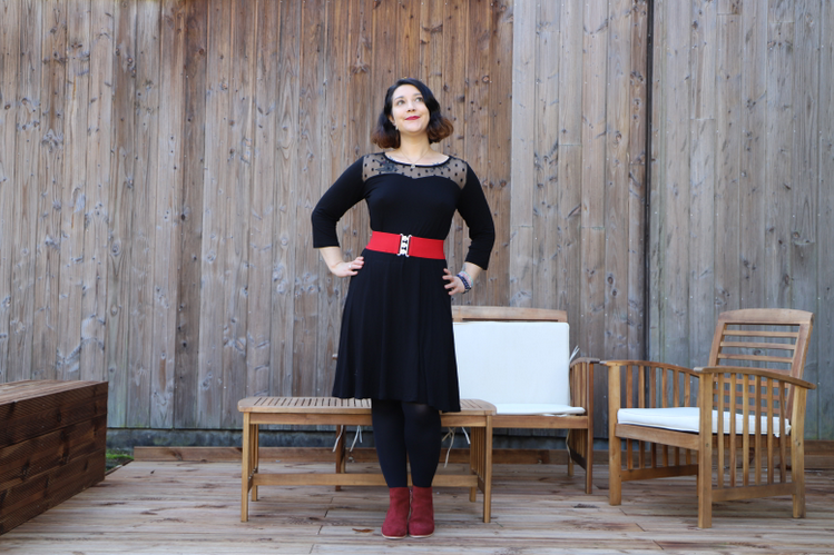 la petite robe noire parfaite en plumetis de Blancheporte