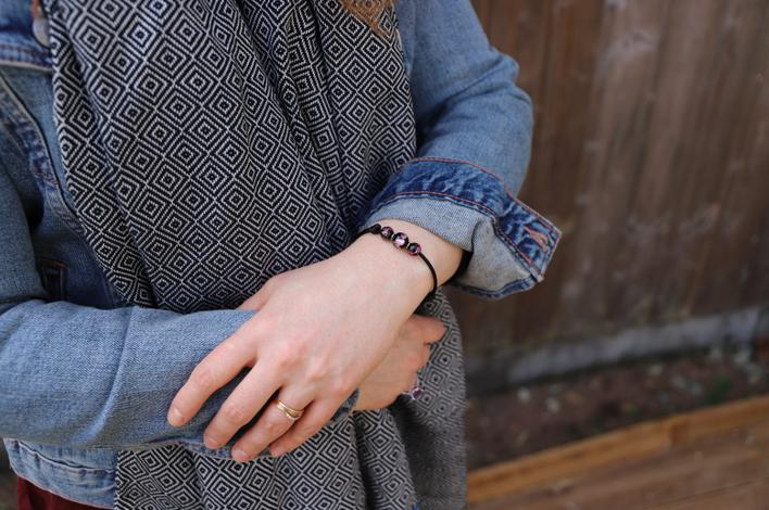 bracelet basique vessière L'artisanat Français cristaux