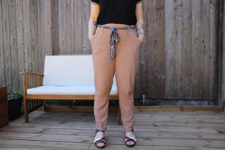 défi bleu bonheur pantalon