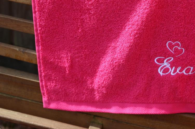 serviette rose