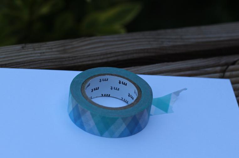 Washi Tape au motif de diamant en triangle bleu