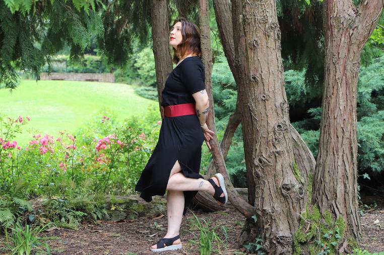 robe longue noire classe