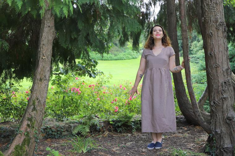 robe naturelle en lin