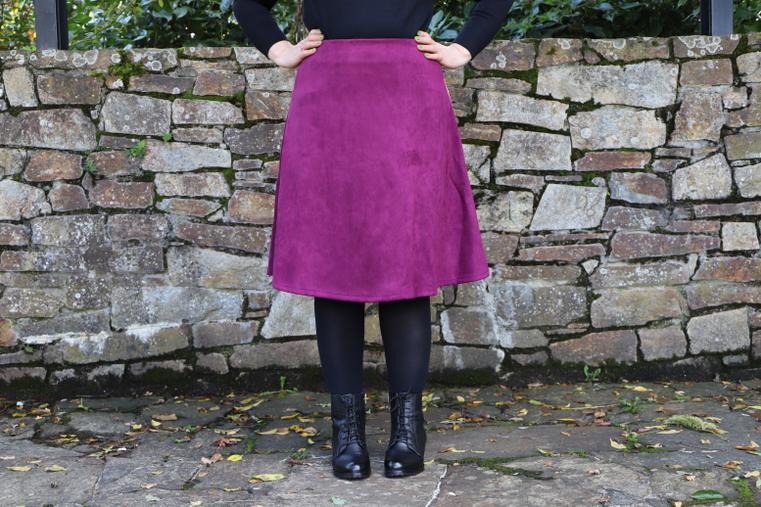 jupe prune couleurs d'automne